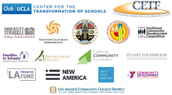 Transforming Schools and Neighborhoods through Digital Inclusion Los Angeles Region Advisory Logos