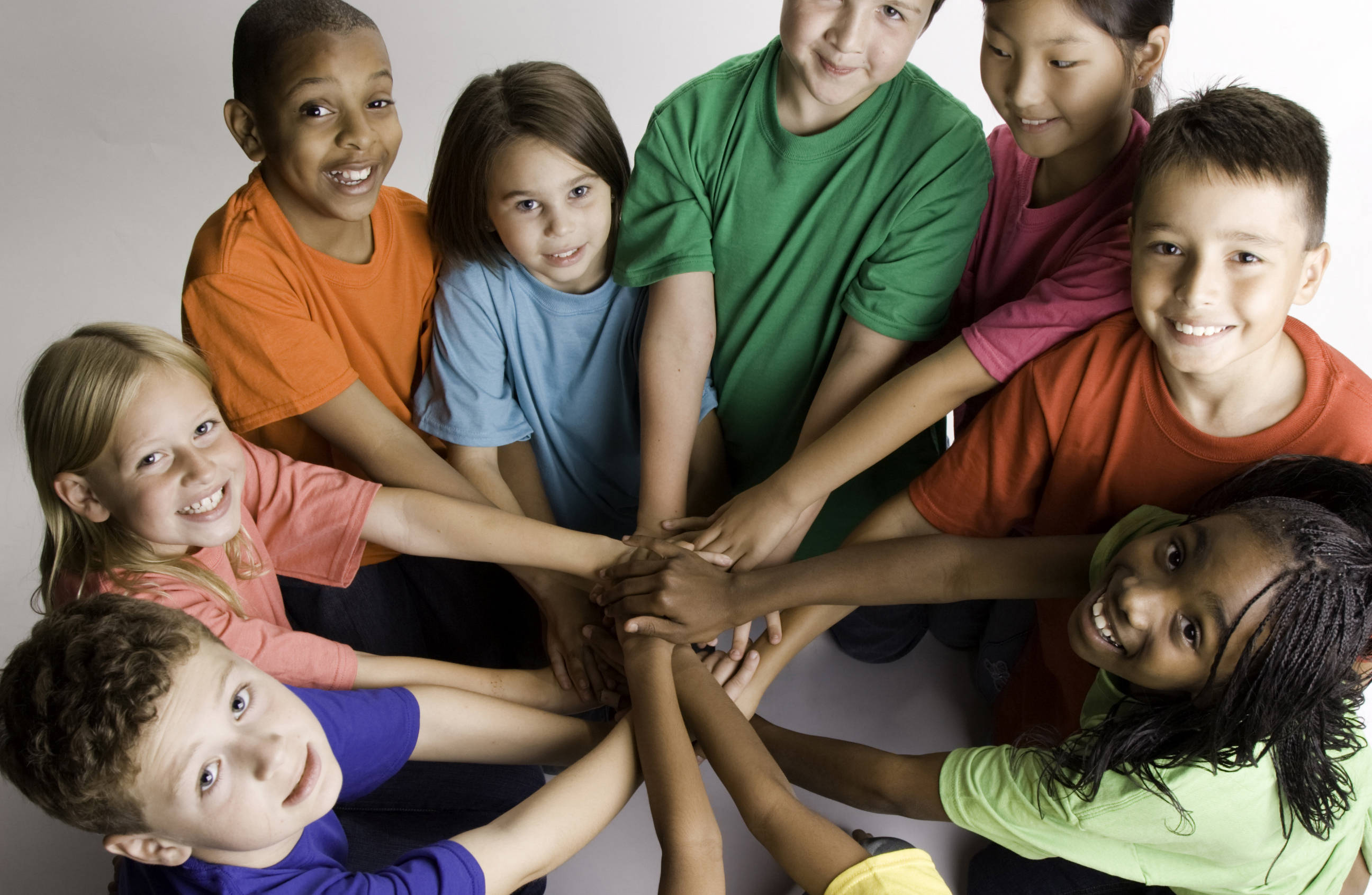 A circle of children holding hands