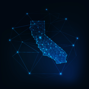 The state of California lit by fiber