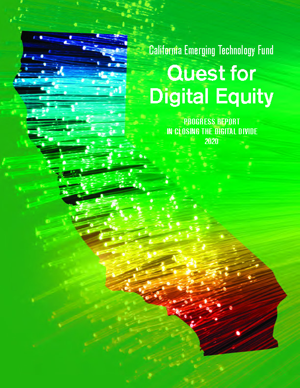 CETF 2020 Progress Report - Quest for Digital Equity