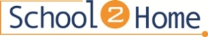 "School 2 Home logo with the number ""2"" in a orange circle."