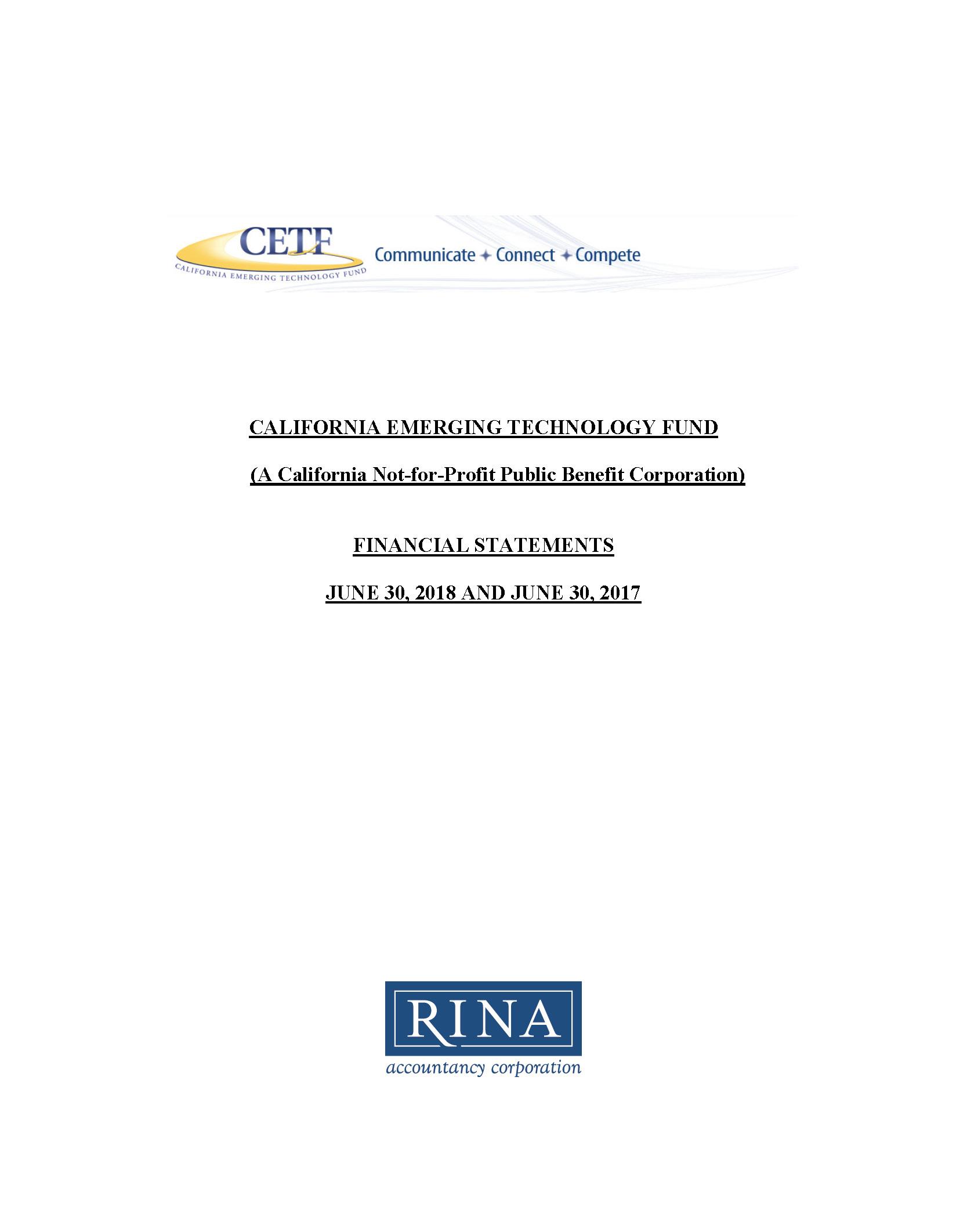 CETF Final Audit 2017-2018
