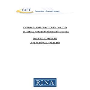 CETF Final Audit 2018-2019