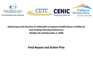 CETF Telehealth Fact-Finding Listening Conferences Exec Summary cover